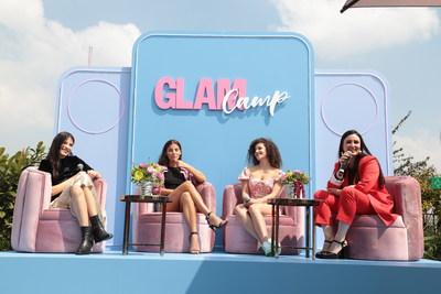 Bárbara Lopez, Aranza Carreiro, Pamela Moreno y Farah Slim en Glam Camp de Glamour México y Latinoamérica