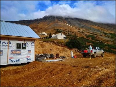 Figure 3. Berg camp construction progress.
